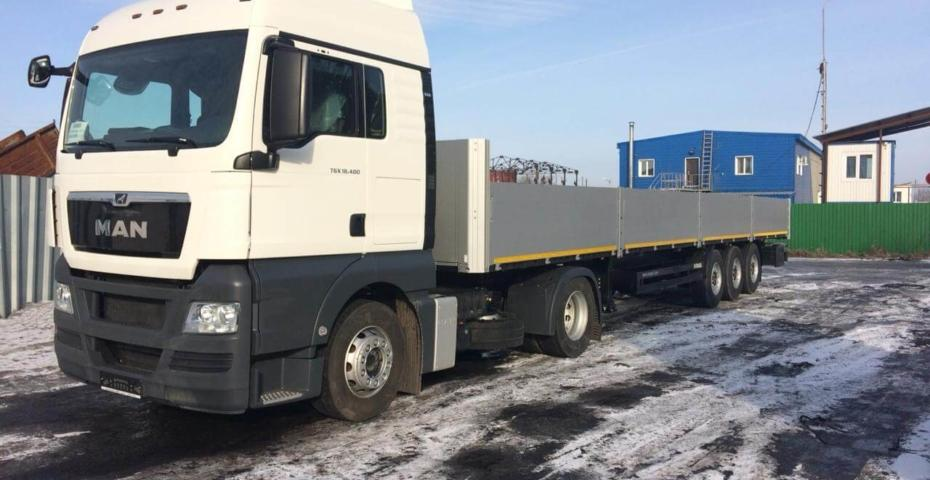 "L.L.C. ""Kiselevsk mining equipment factory"" has bought MAN truck with semi-trailer."